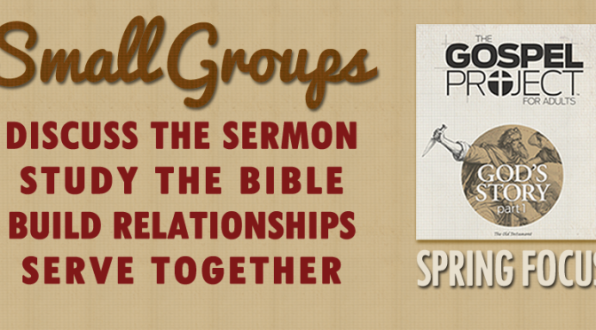A Vision for Small Groups