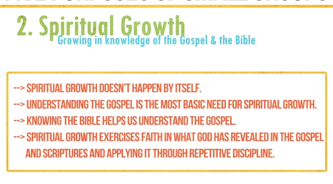 Five Purposes & Practices of Small Groups: 2. GROWTH