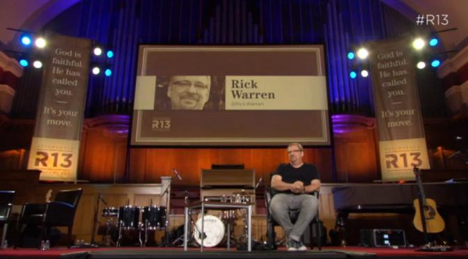 Recommended Resource: Rick Warren Talk