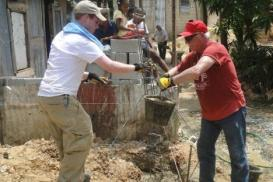 Day 5, blog @ house-build, foot-washing