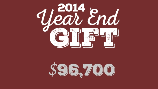 2014 Year End Gift: Explanation and Description